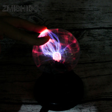 ZMISHIBO Electrostatic Control Night Light Negative Ion  Static Electricity Glass Ball USB Rechargeable Atmosphere Holiday Lamp