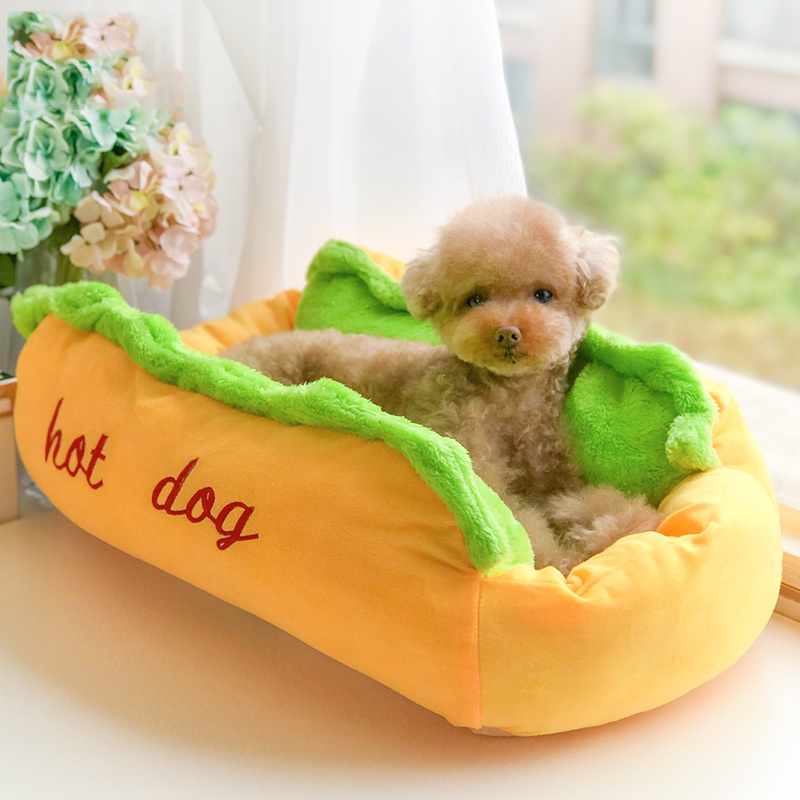 Winter Hot Dog Bed Fashion Soft Pet Cute Dog Bedding For