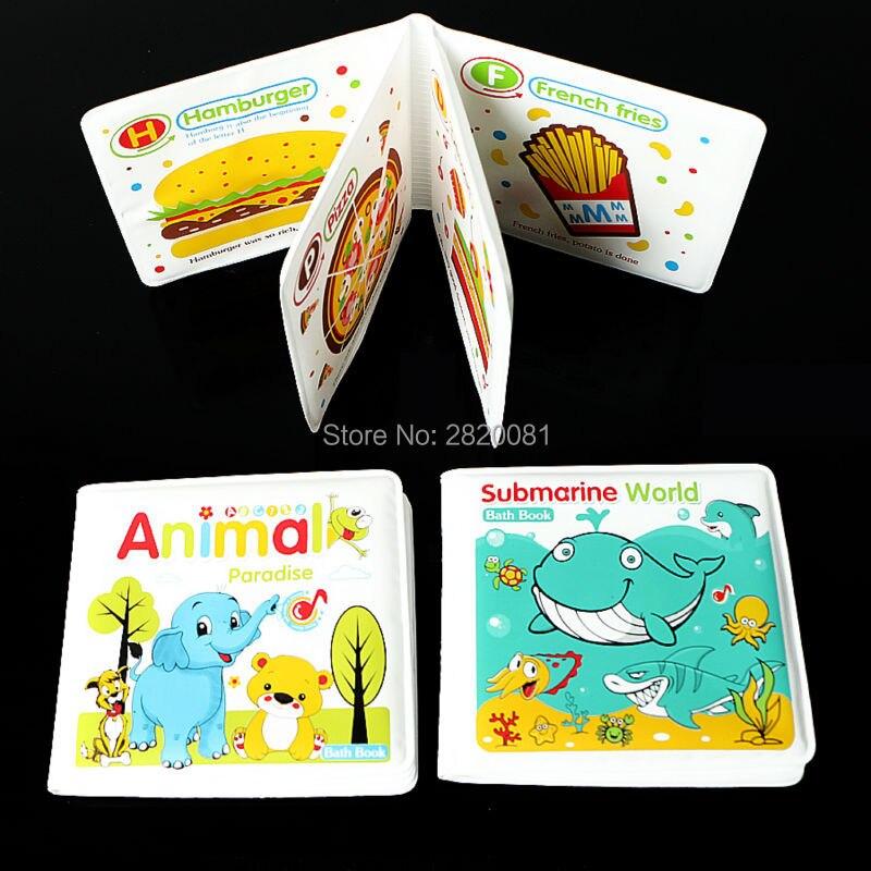 3 pcs étanche jouets livre de bain pour bébé jouer l'heure du bain, apprentissage et jouets éducatifs 3 style clevers enfants meilleur cadeau