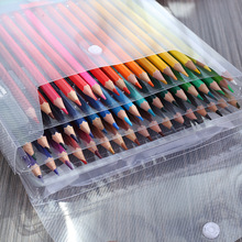 цены 50 Watercolor Pencil Set School Students Drawing Water Colour Pencils Packed By PVC Box 50pcs/set