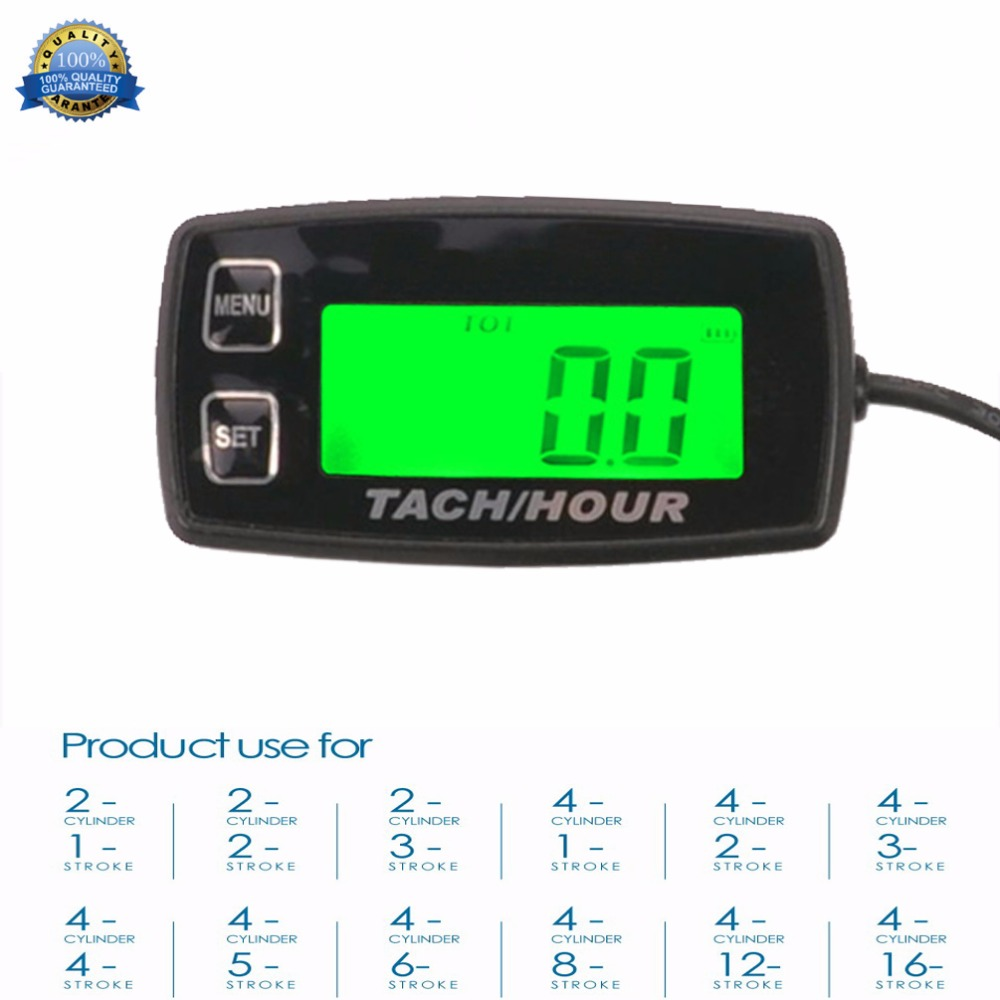 Backlight High Quality Hour Meter Tachometer RPM METER For ATV Tractor Generator lawn Mower Pit bike outboard MARINE RL-HM035R digital voltmeter hour meter tachometer for outboard motor jet ski snowmobile motorcycle atv tractor paramotor marine pit bike