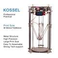2016 Atualizado Impressora Kossel Delta Full Metal 3D DIY Linear Kit Grande Tamanho de Impressão de Alta Precisão com 1 Anos de Fábrica garantia