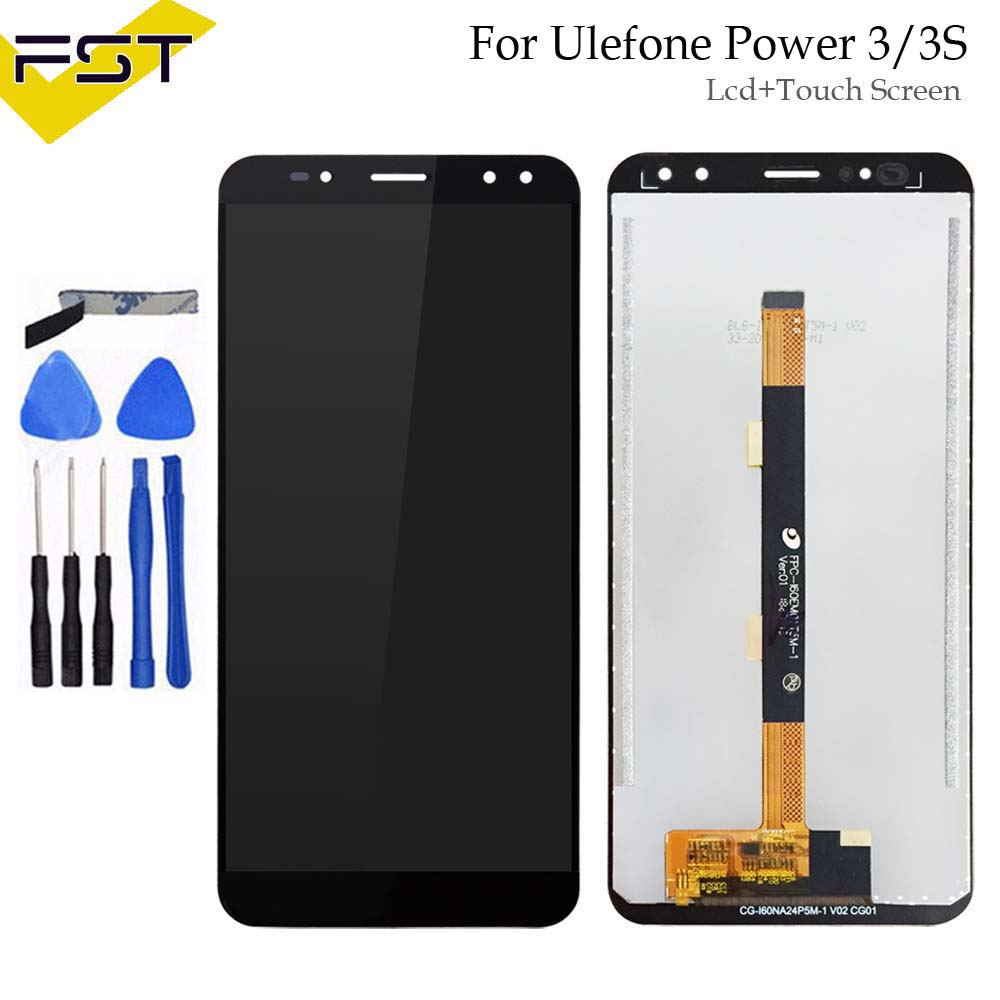 6.0 inch Tested Well For Ulefone Power 3 LCD Display+Touch Screen Digitizer Assembly for Ulefone Power 3S LCD+Tools