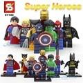 Marvel & DC SY180 Super Heroes Фигурки Мстители Супермен Бэтмен Ironman паук Капитан Америка халк Тор Росомаха
