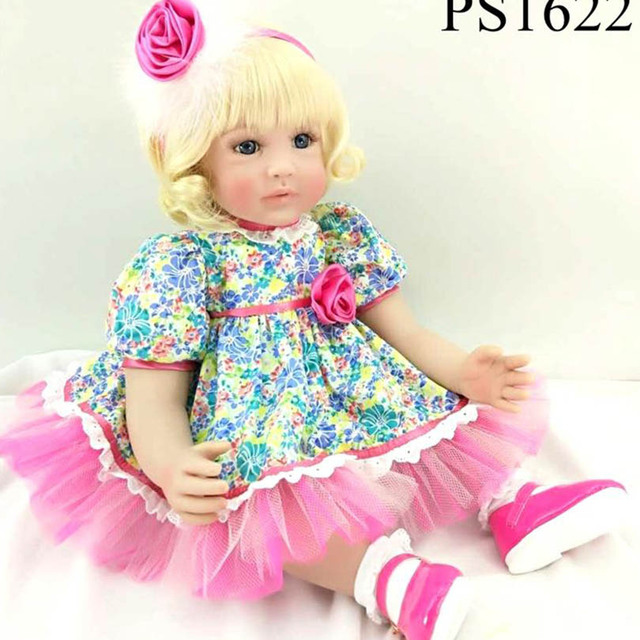 60cm soft sweet baby dolls girl gift toys princess baby doll cute
