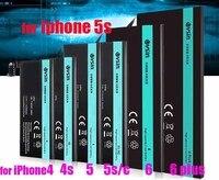 Аккумулятор для iphone 5S 5C VSIN для iphon5s 0 cyle полная емкость испытание 100% 1560 мАч литий-ионный полимерный батареи + Открытие набор инструментов