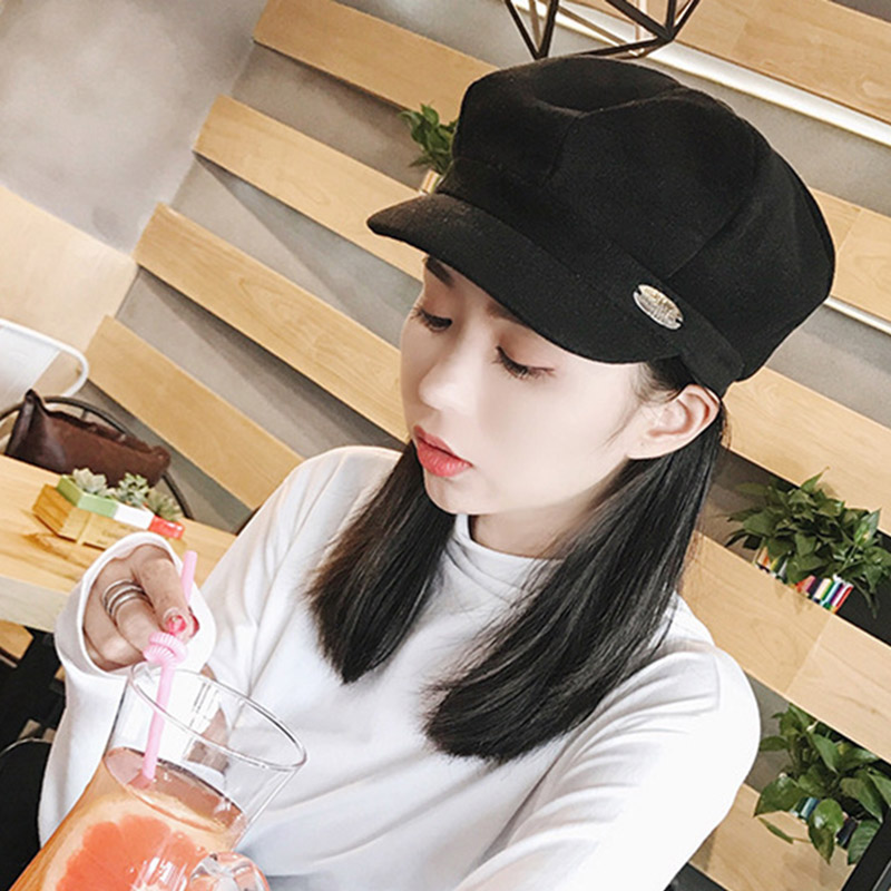 ROSASSY Elegant Women Faux Wool Octagonal Hats for Ladies Girls 2019 New Fashion Winter Hats Bonnet Femme Valentine's Days Gift