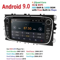 IPS 4G android 9.0 car dvd for Ford focus Mondeo S max smax Kuga c max gps intelligent radio video wifi multimedia player bt