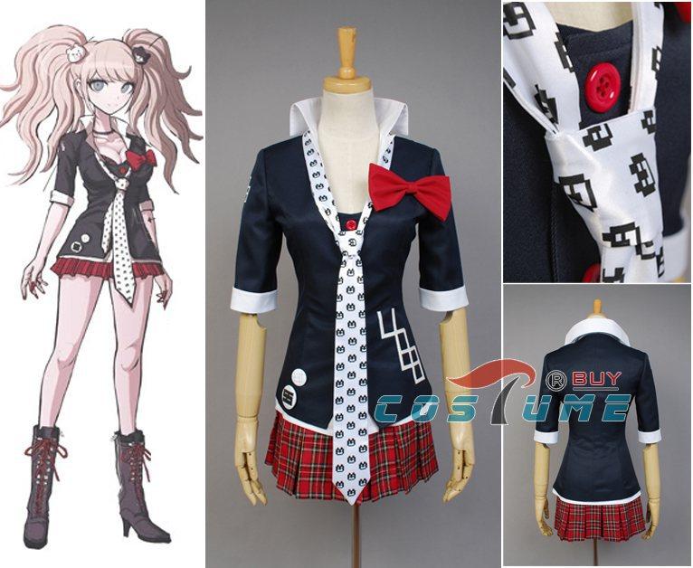 Danganronpa Halloween Cosplay AnimeCostume Womens Jacket CoatEnoshima Top Skirt Unfirom