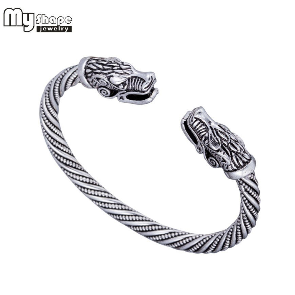 my shape Viking Wolf Bracelet Indian Jewelry Fashion Accessories Zinc Alloy Men Wristband Cuff Bracelets For Women Bangles bracelet