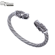 my shape Viking Wolf Bracelet Indian Jewelry Fashion Accessories Zinc Alloy Men Wristband Cuff Bracelets For Women Bangles