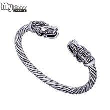 a176ff2575a5 (Se envía desde ES) Mi forma Lobo vikingo pulsera India joyería de aleación  de Zinc de hombres pulsera pulseras de brazalete para las mujeres brazal.