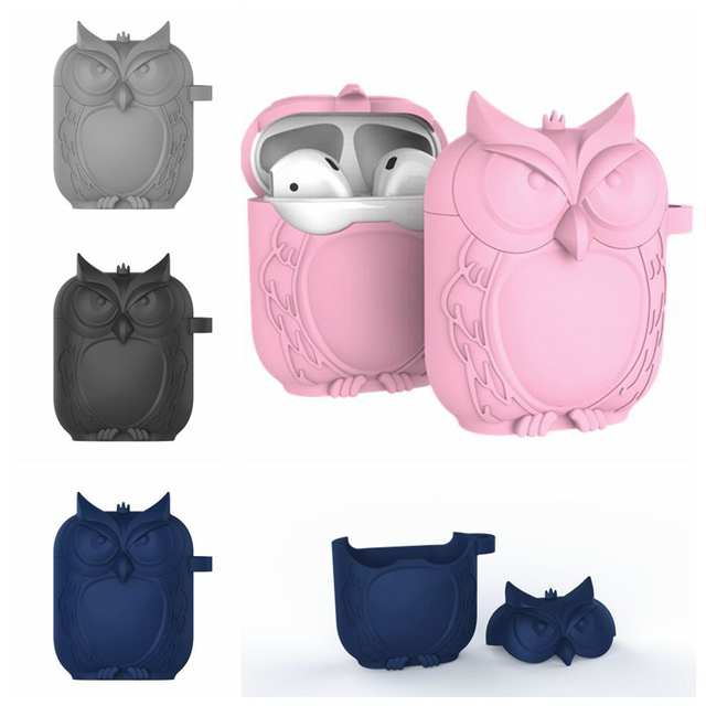 Owl Soft Silicone Earphone For Apple Airpods Case Bluetooth