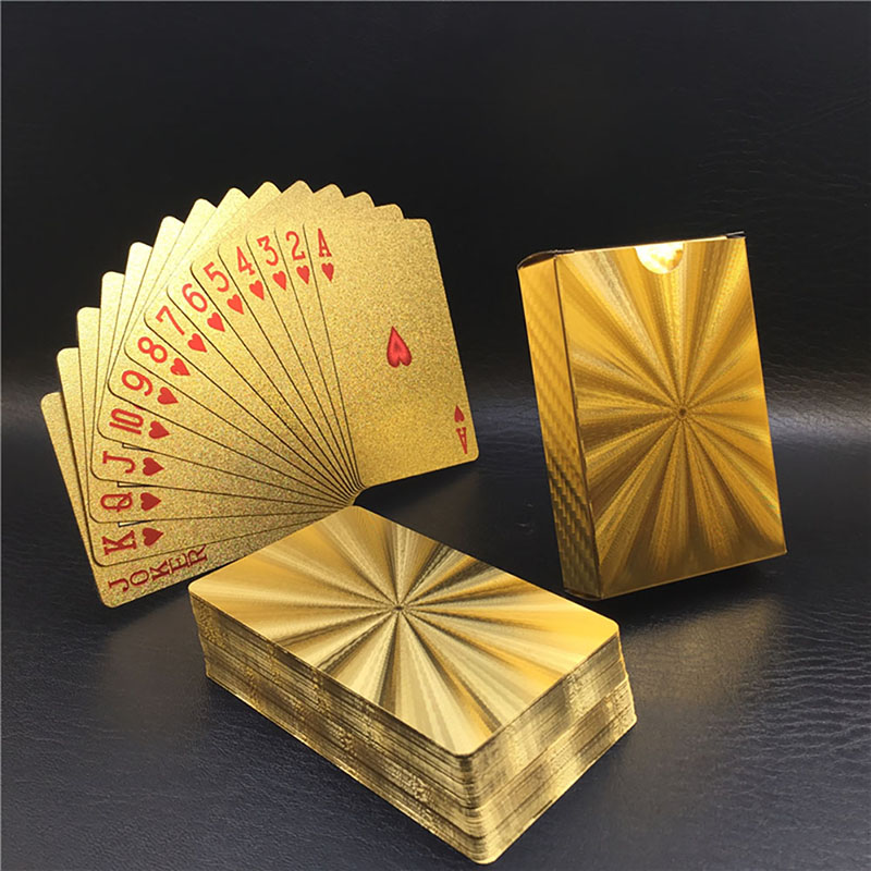 Golden Foil Plated Normal Playing Cards Poker 52 Cards 2