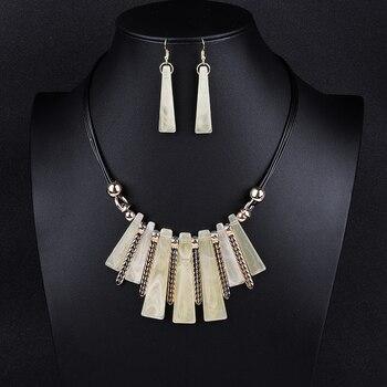 Luxury Choker Drop Tassel Statement Maxi Jewelry Set 3