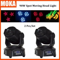 2PCS/LOT China Made Led Round Base Spot Beam Moving Head Club Nightclub 90W Light Gobo Effect LCD Display Stage Light