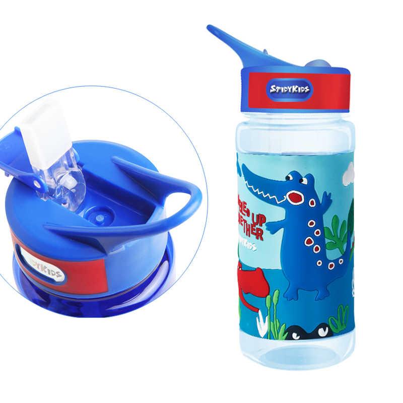 Детские 500 мл портативный мультфильм милый красочный PP посуда для напитков термальная бутылка для кормления воды круглая туристическая кружка фляги