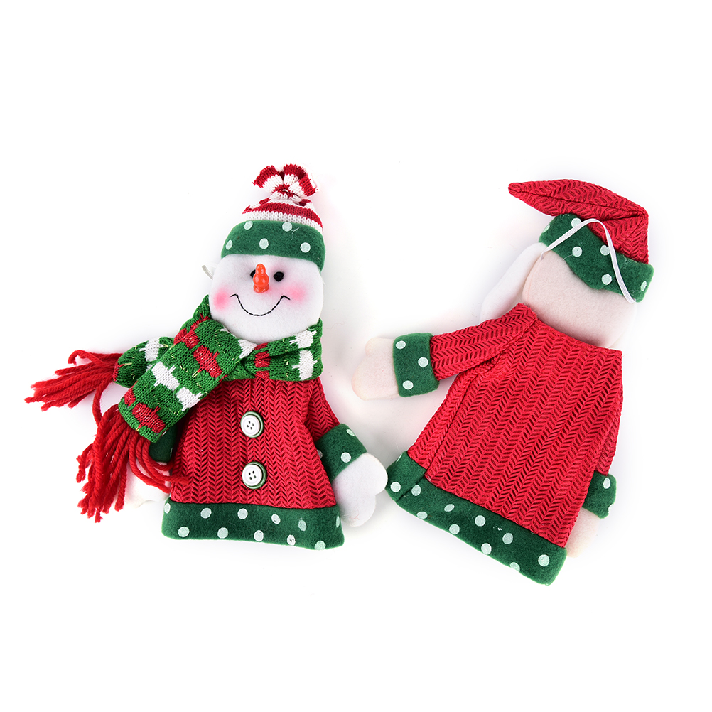 Christmas Gifts Knitting Elk Santa Claus Snowman Doll Christmas Wine ...
