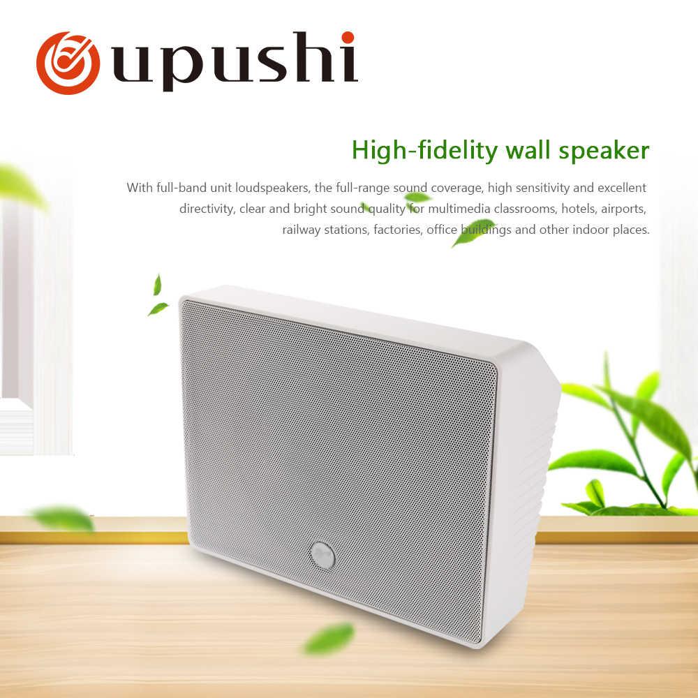 Oupushi 10 Вт Прямоугольная стена спикер Крытый динамик для системы PA и фоновая