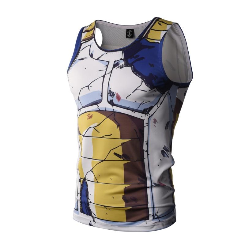 Camiseta sin mangas de Dragon Ball Bodybuilding hombre Anime Tops Naruto chaleco Fitness Tops camisetas super saiyan ZOOTOP oso