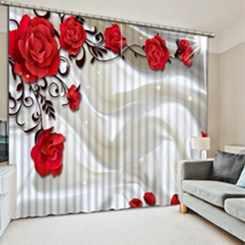 Европейские оконные занавески, розовая элегантная гардина для гостиной, спальни, украшения дома