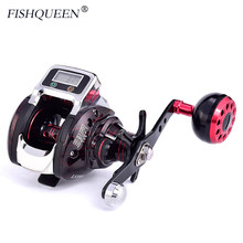 2019 New Baitcasting Reel With Line Counter Reel Fishing 14+1 BB Ball Bearing Bait Casting 6.3:1 One-way Fishing Coils Wheel(China)
