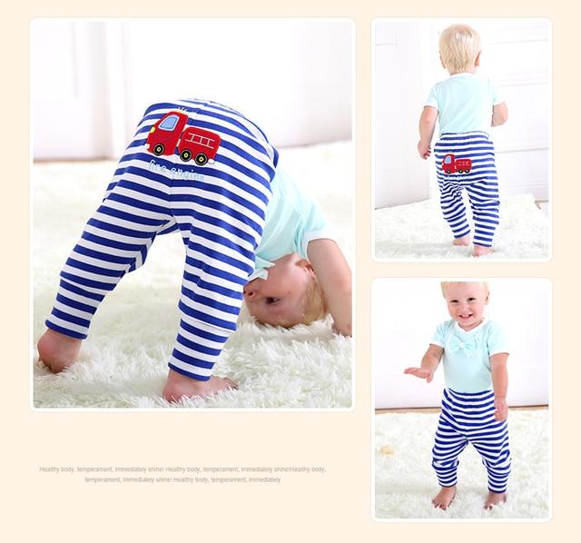 Casual Elastic Waist Cotton Pants for Babies 2