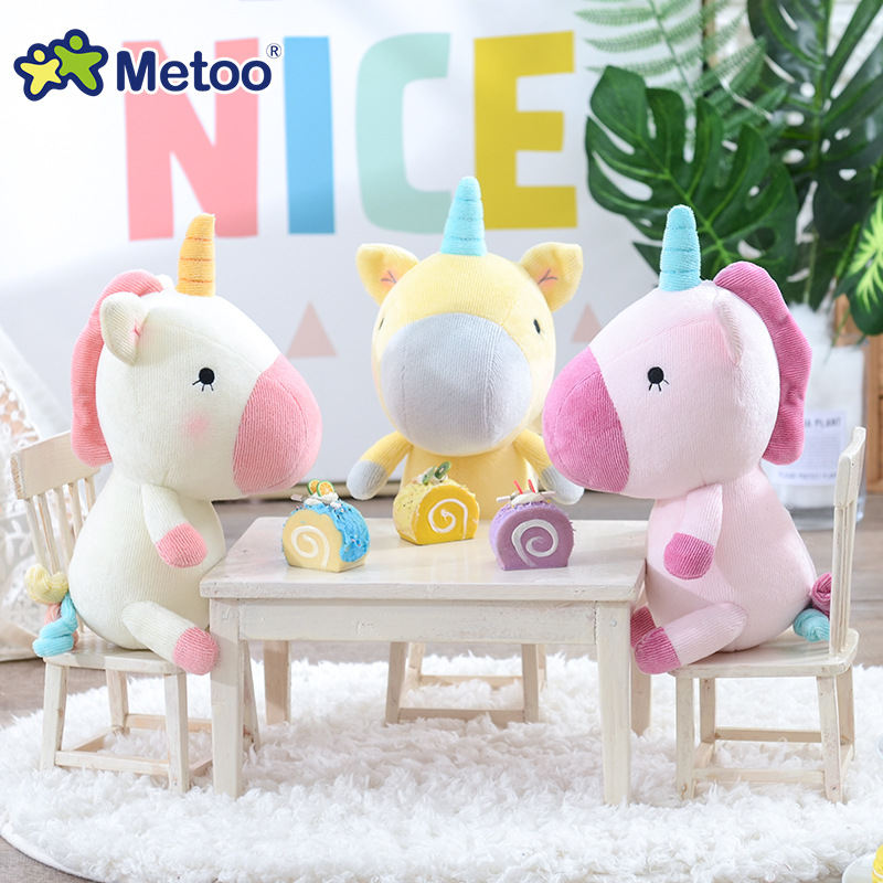 21CM Unicorn plush horse doll Soft toys Children gifts decoration Stuffed pony cute animals Kawaii Rainbow Unicorn dolls 30M058 kawaii pvc flocked dolls furry animals cars and desk decorate cute dolls exquisite collection flocking toys gifts for new year
