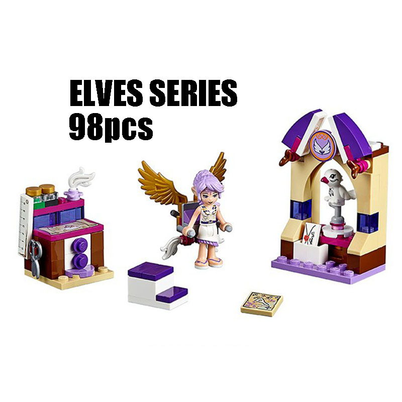 Compatible with Lego Elves 41071 Bela 10408 98pcs Elves Figure blocks Aira's Creative Workshop building blocks toys for children