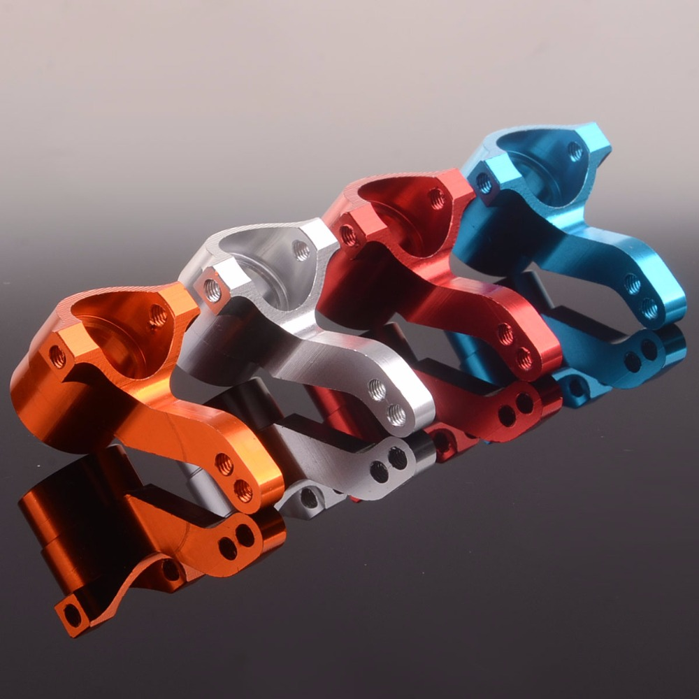 BMT0001 Steering Arm Hub Carrier L/R 1/10 Alloy Fit HPI Bullet 3.0, Multicolor