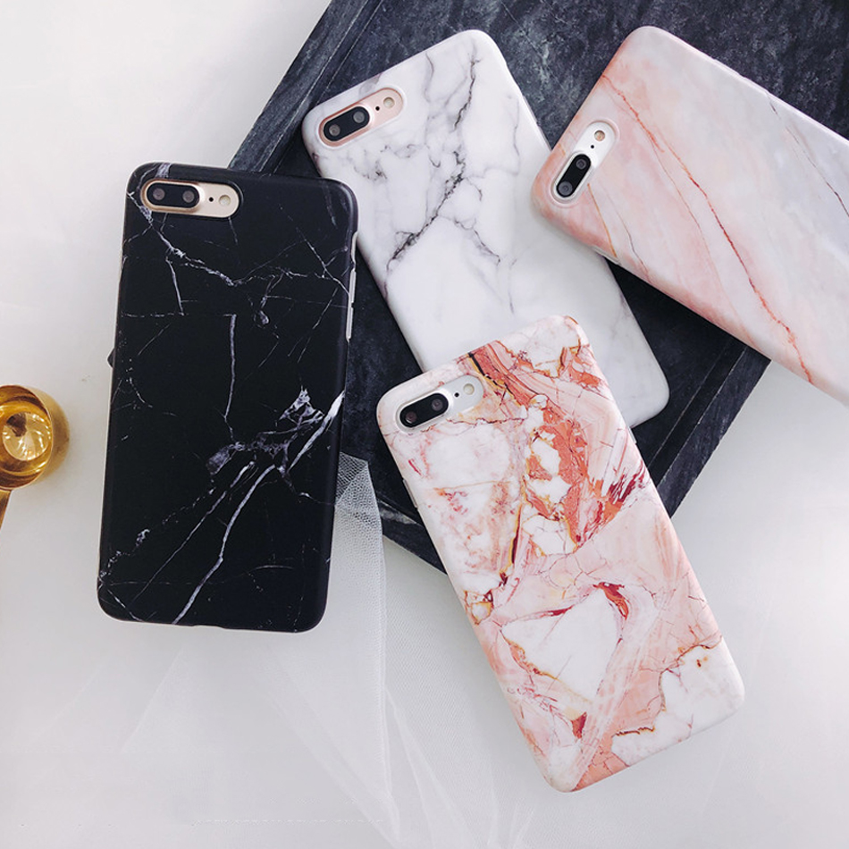 Moskado Shell Phone Case With Glossy Granite Marble Stone Cover For iPhone 11 Pro X XS Max XR 9