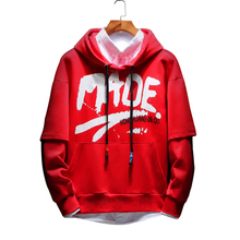 2018 autumn and winter youth new fashionable male characters loose big code Korean version of the trend  hoodies