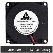 10 шт gdstime ball 5 в 40 мм 4 см вентилятор для 3d деталей
