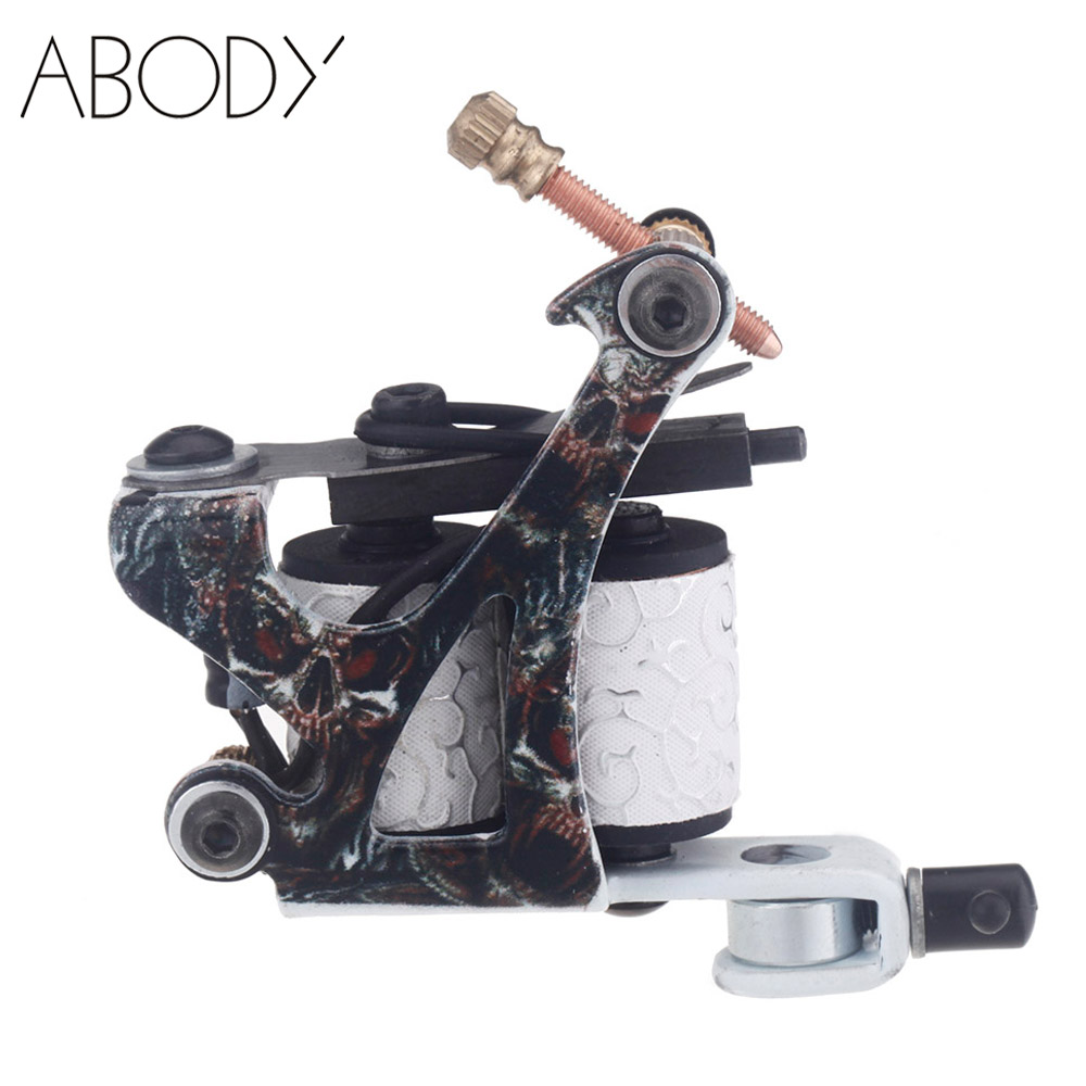 Professional tattoo machine gun 10 wrap coils senior cast for Tattoo gun prices