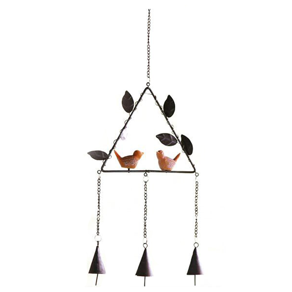 Japanese style metal wind chime with birds ornament aeolian bells japanese style metal wind chime with birds ornament aeolian bells home garden decor in wind chimes hanging decorations from home garden on arubaitofo Gallery