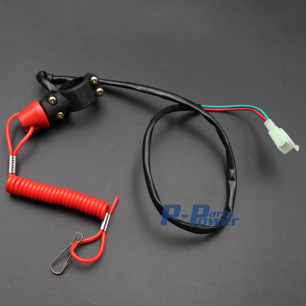 Motorcycle Atv Dirt Bike Handle Bar Mount Tether Lanyard Engine Kill How To Wire A Switch On 50 70 90 110 125cc 150cc New In Levers Ropes Cables From Automobiles
