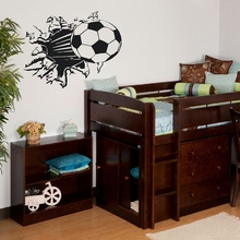 Free Shipping Soccer Ball Football vinyl Wall Sticker Decal Kids Room Decor Sport Boy Art Bedroom,s2002(China)