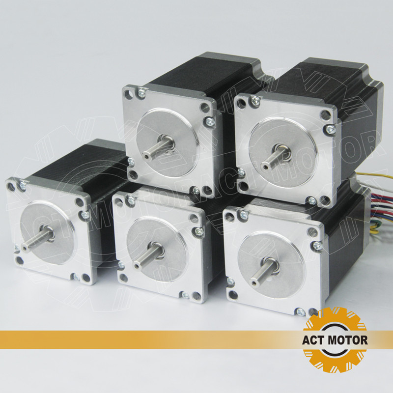 ACT Motor 5PCS Nema23 Stepper Motor 23HS6620 Single Shaft 185oz-in 56mm 2A 6-lead CE ROHS ISO CNC Router US CA DE UK IT FR Free