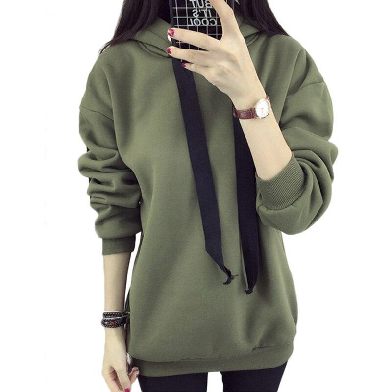 Women s font b hoodie b font 2018 autumn and winter new fashion Korean large yards
