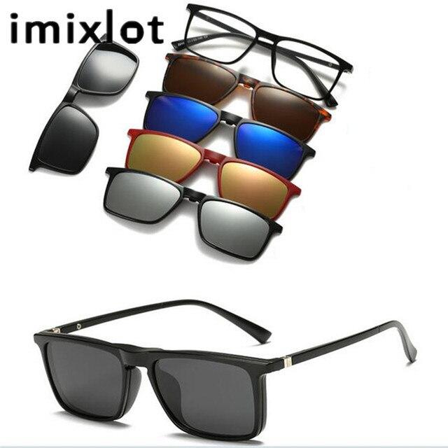 77f4bf7fa IMIXLOT Personalizado Clipes Homens Prescrição Miopia Polarizados Clipe no  Clipe de Óculos De Sol Espelhado óculos