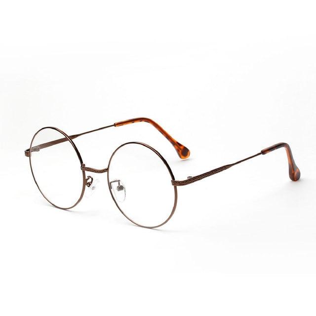 2017 Armações de Óculos Mulheres Moda Óculos Redondos Homens Do Vintage  redondo Moldura de Ouro Óculos d6a8ddafd8