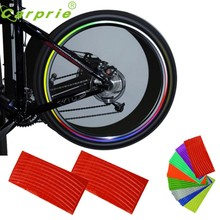 2017 pegatina nueva rueda caliente reflectante coche motocicleta Rim Sticker, rueda Rim Stripe Sticker, borde impermeable may04(China)