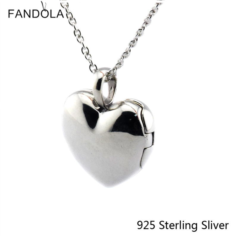 CKK 925 Sterling Gümüşü Sevgi Lokalı Ürək Boyunbağı asqısı - Gözəl zərgərlik