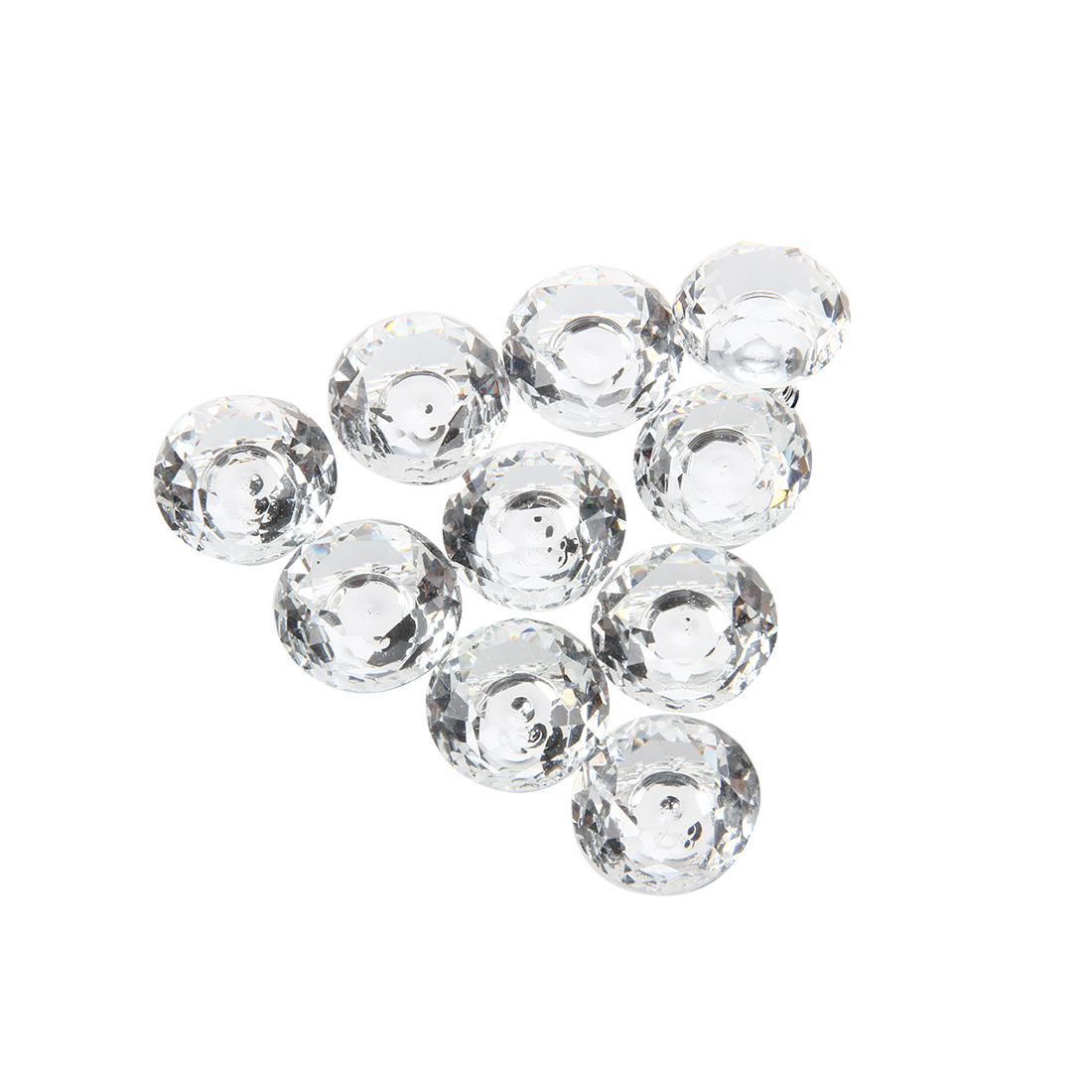 10pcs 30mm Diamond Crystal Glass Door Drawer Cabinet Furniture Handle Knob Screw css clear crystal glass cabinet drawer door knobs handles 30mm