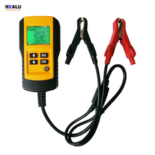 Handheld Storage battery Tester Car battery analyzer Digital 12V Battery Analyzer Voltage/Capacity/Resistance/CCA handheld 6v12v automotive car battery tester charger alternator battery load tester equipment voltage tool