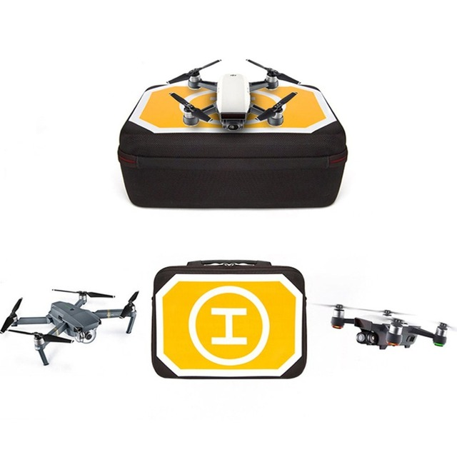 Waterproof Storage Case Shoulder Bag Box with Landing Pad Portable Retractable Storage Bag for DJI for Mavic for Spark Drone