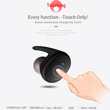 Touch wireless Sports Headphones TWS Mini Bluetooth Headset IPX5 waterproof  Earphone with Mic for iphone / xiaomi android phone