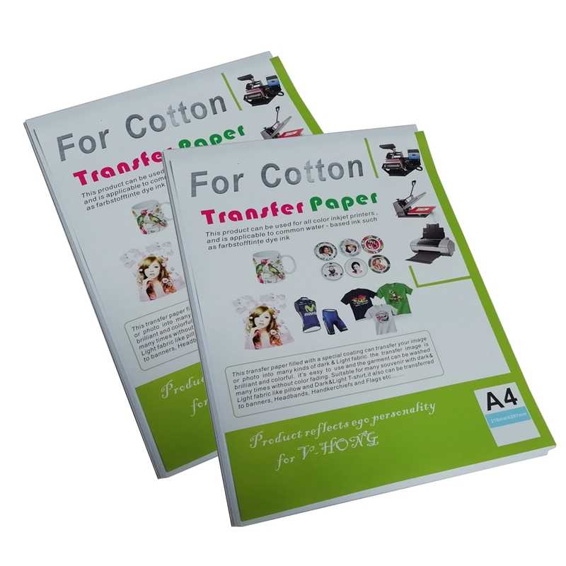 cea96c5d20a26d T-shirt cotton heat sublimation transfer paper used for light color A4 size  inkjet printer