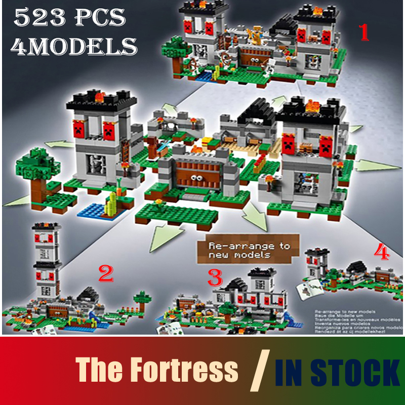 Compatible with lego my worlds MineCraft Model building kits 18005 21127 The Fortress Educational toys hobbies for children model building kits compatible with lego the sky dragon my worlds minecraft 548 pcs model building toys hobbies for children