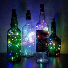 Бутылка для вина LightC 1 м 2 м в форме пробки батарея медный провод светодиодные гирлянды для бутылки DIY Рождество Свадьба Праздник Рамадан